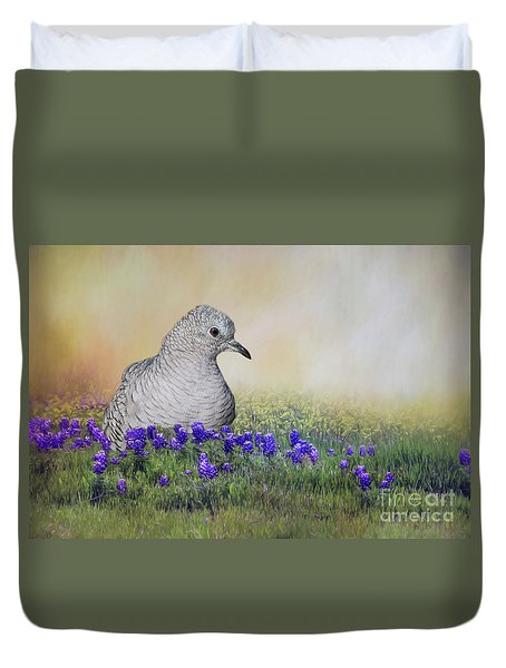 Duvet Cover featuring the photograph Inca Dove  by Bonnie Barry