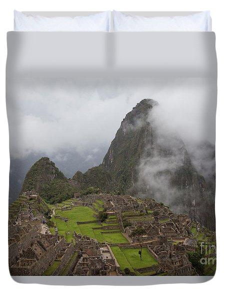 Inca Ruins Duvet Cover