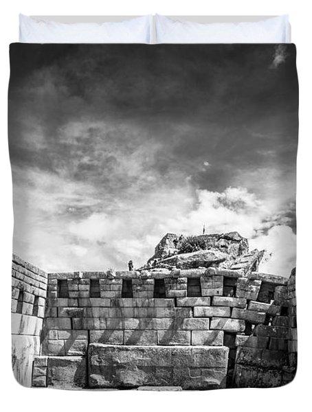 Inca Walls. Duvet Cover