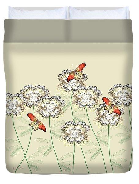 Incendia Flower Garden Duvet Cover by Rosalie Scanlon