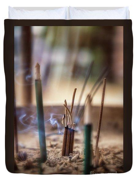 Incense Burning Duvet Cover