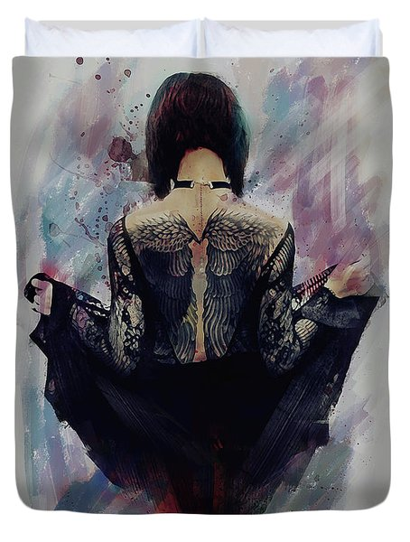Incite - Dark Angel Duvet Cover
