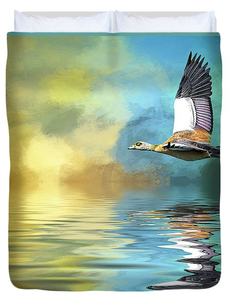 Incoming Duvet Cover by Cyndy Doty