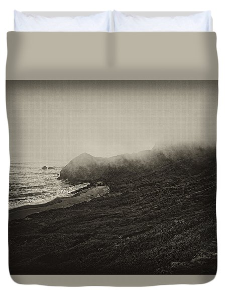 Duvet Cover featuring the photograph Incoming Fog by Hugh Smith