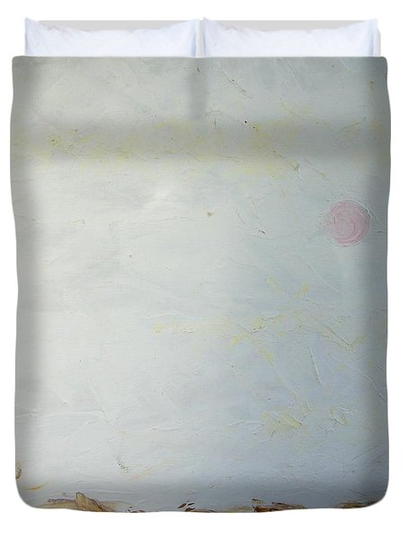 Duvet Cover featuring the painting Incredible Lightness Of Being by Lenore Senior