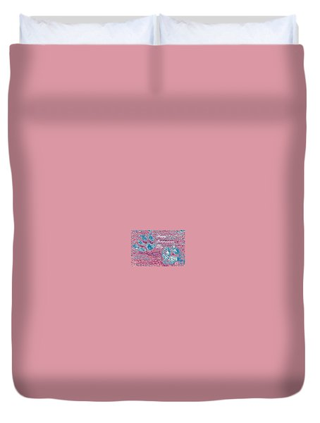 Independence Day Paw Prints Duvet Cover