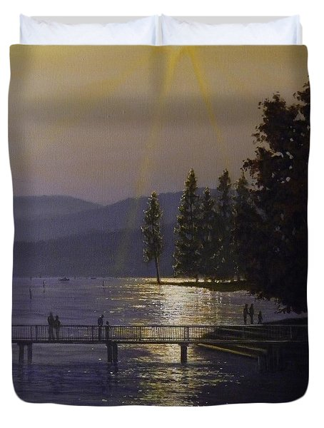Independence Point, Lake Coeur D'alene Duvet Cover