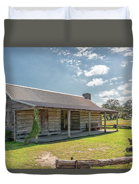 Independence Texas Cabin Duvet Cover