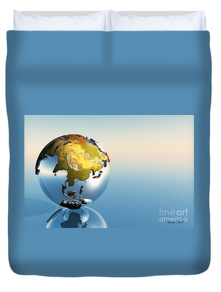 India, Asia, Japan Duvet Cover by Corey Ford