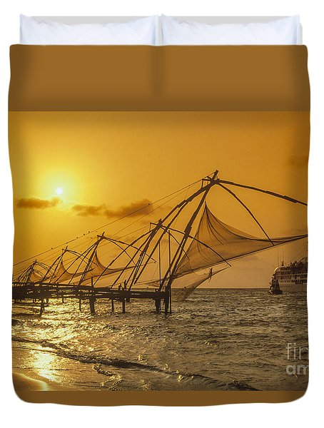 Duvet Cover featuring the photograph India Cochin by Juergen Held