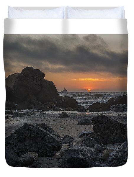Indian Beach Sunset Duvet Cover