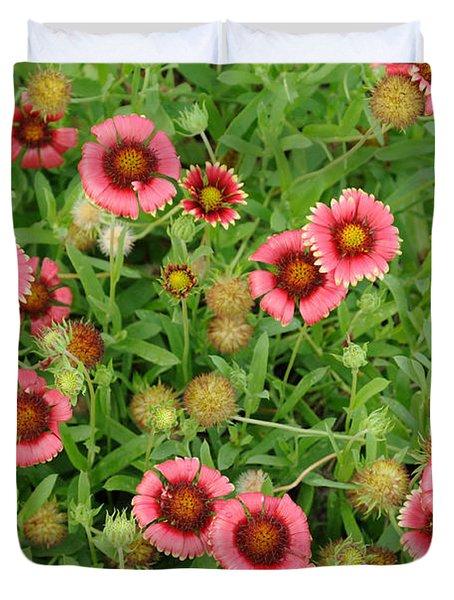 Indian Blanket Flowers Duvet Cover
