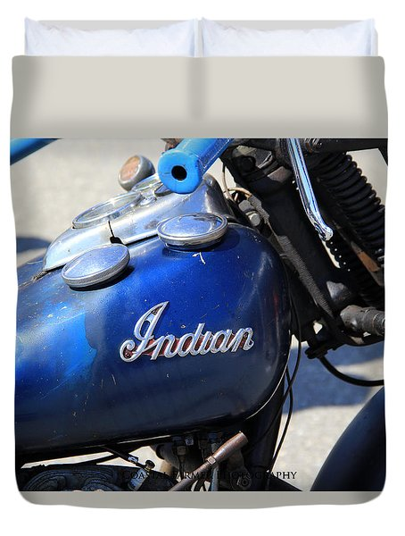 Indian Blue Duvet Cover
