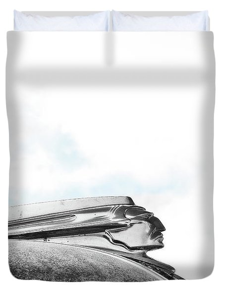 Indian Chief Hood Ornament Duvet Cover