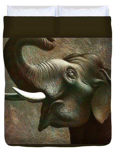 Indian Elephant 2 Duvet Cover