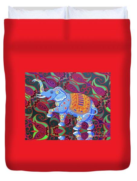 Indian Elephant Duvet Cover