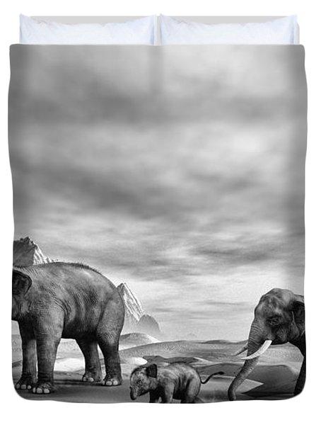 Indian Elephant's Duvet Cover