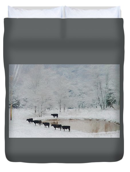 Indian File Duvet Cover