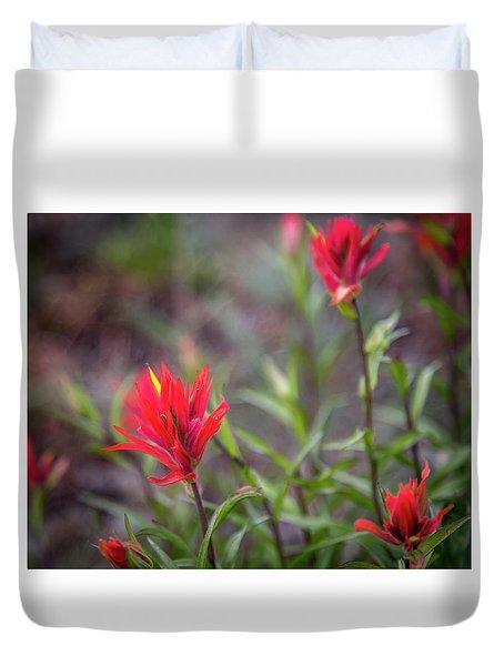 Indian Hawthorne Duvet Cover