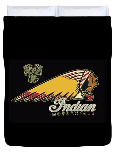 Indian Motorcycle Logo Series 2 Duvet Cover