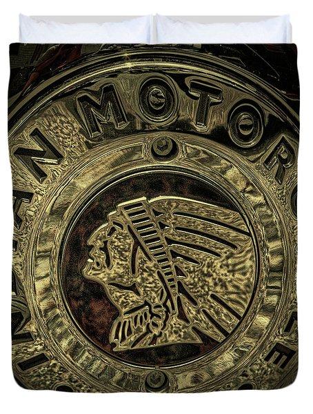 Indian Motorcycle Logo Duvet Cover