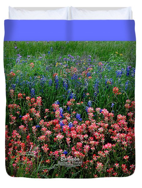 Indian Paintbrush #0486 Duvet Cover by Barbara Tristan