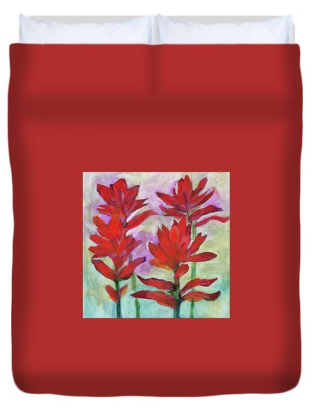 Indian Paintbrush Again Duvet Cover