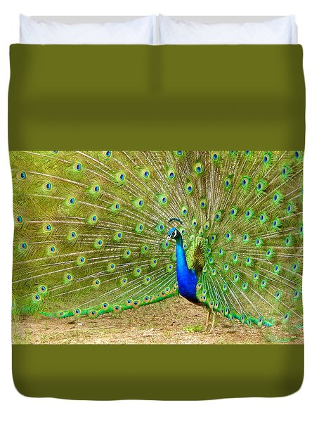 Indian Peacock Duvet Cover
