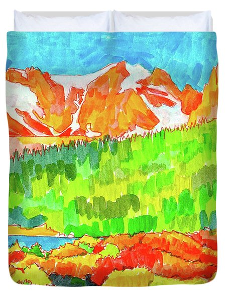 Indian Peaks Wilderness Duvet Cover