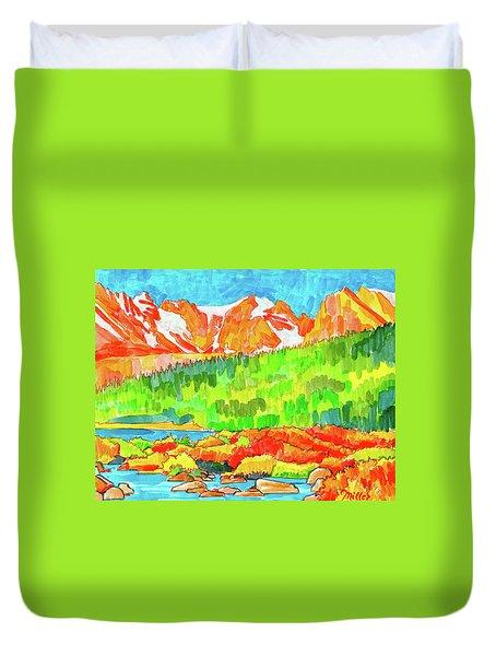 Indian Peaks Wilderness Duvet Cover
