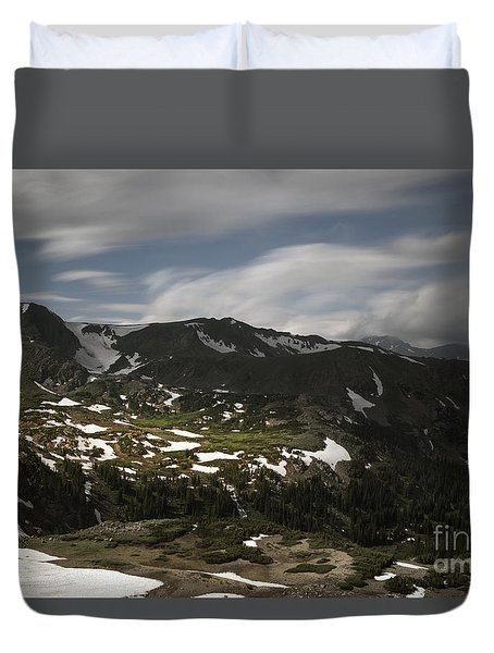 Duvet Cover featuring the photograph Indian Peaks Wilderness by Keith Kapple
