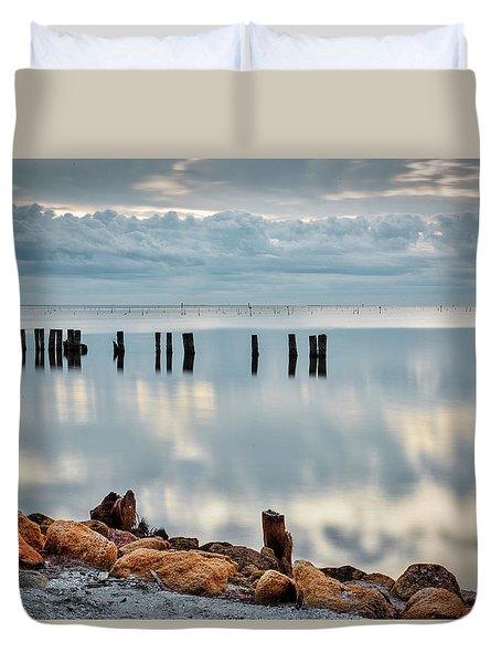 Indian River Morning Duvet Cover