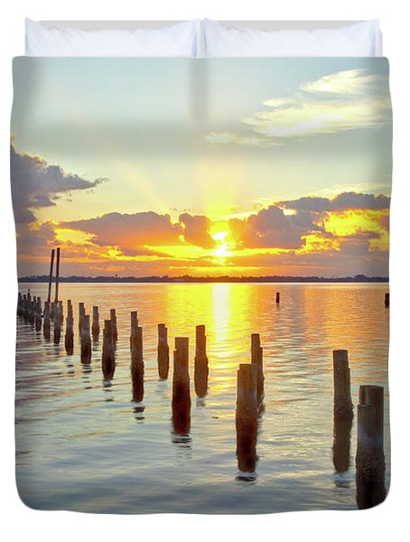 Indian River Sunrise Duvet Cover