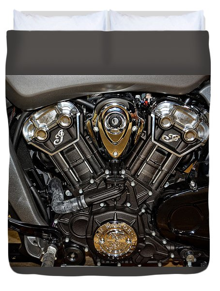 Indian Scout Engine Duvet Cover