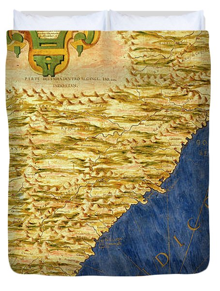 Indian Subcontinent And Island Of Sri Lanka Duvet Cover