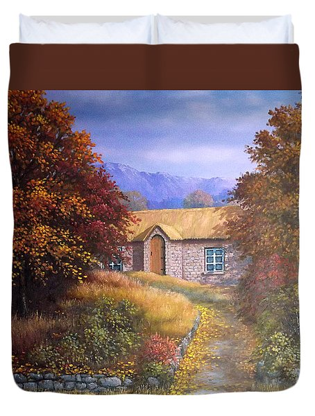 Indian Summer House Duvet Cover by Sean Conlon