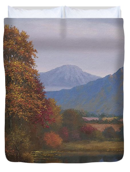 Indian Summer Revisited Duvet Cover by Sean Conlon