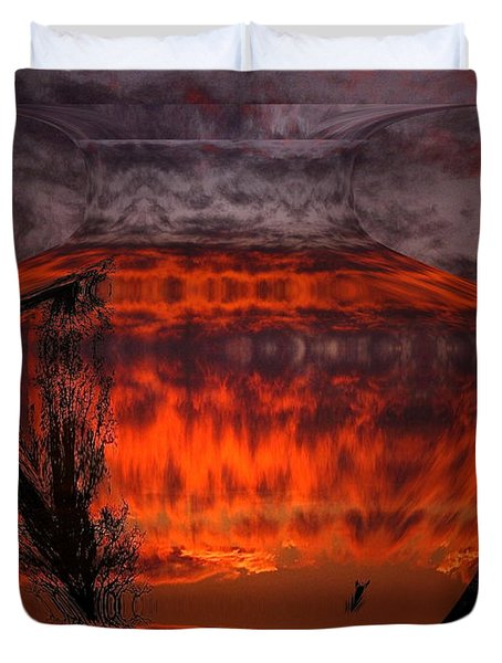 Duvet Cover featuring the photograph Indian Summer Sunrise by Joyce Dickens