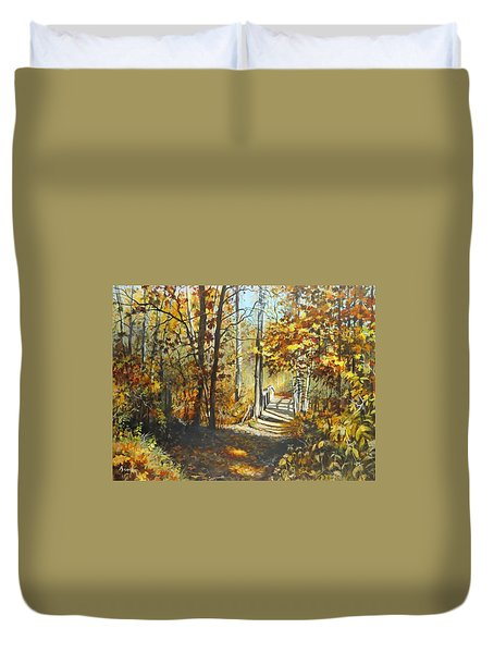 Indian Summer Trail Duvet Cover