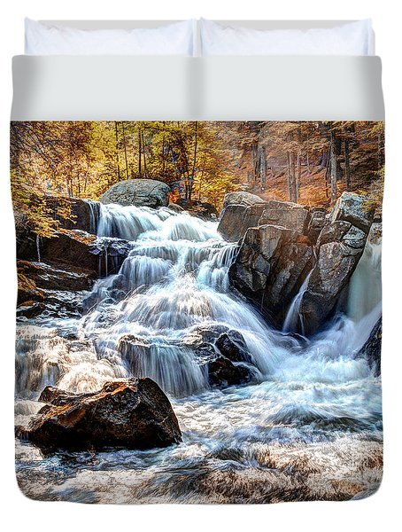 Indian Summer Waterfalls Duvet Cover