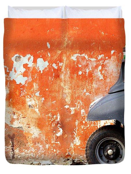 Indian Tuk Tuk Duvet Cover