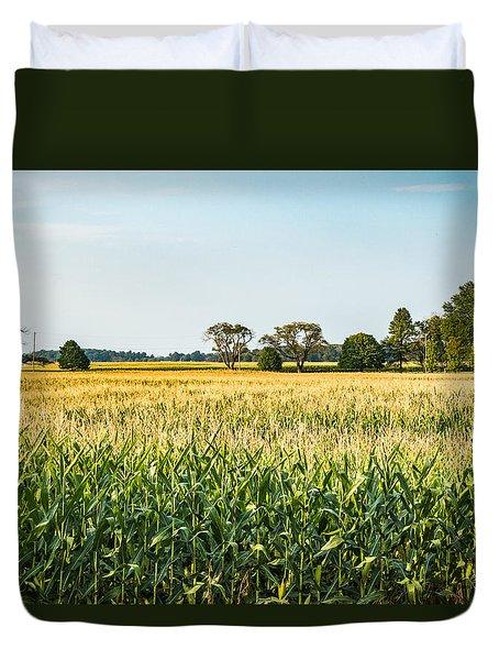 Indiana Corn Field Duvet Cover