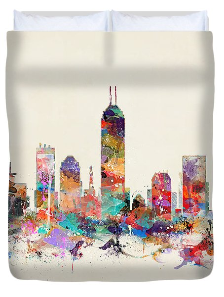 Indianapolis Indiana  Duvet Cover