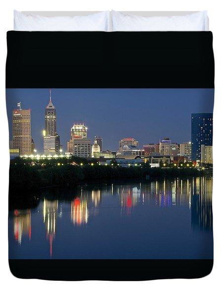 Indianapolis Night Duvet Cover