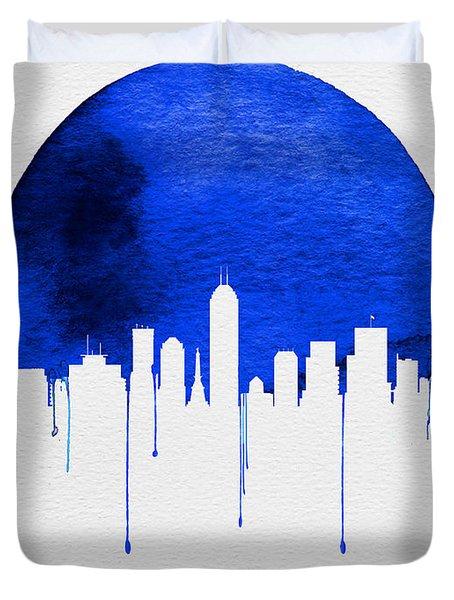 Indianapolis Skyline Blue Duvet Cover