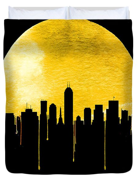 Indianapolis Skyline Yellow Duvet Cover