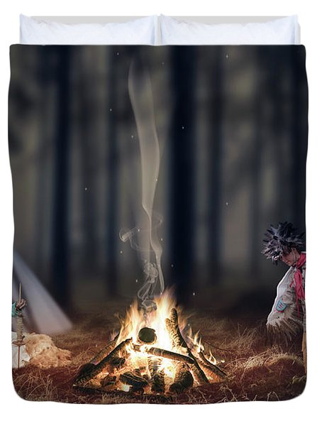 Indigenous Peoples Of The Americas Duvet Cover