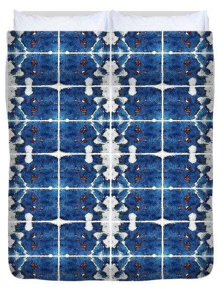 Indigo Abstract Duvet Cover by Patricia Strand