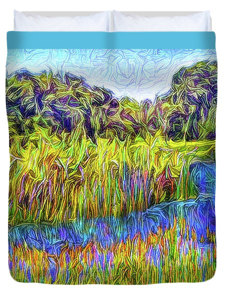 Indigo Lake Reflections Duvet Cover by Joel Bruce Wallach
