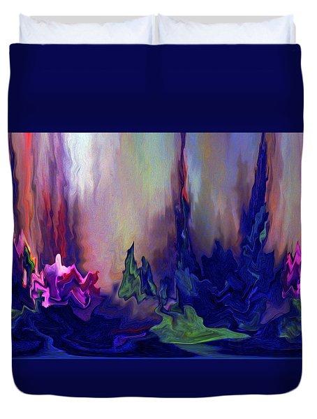 Indigo Rising Duvet Cover by Cedric Hampton